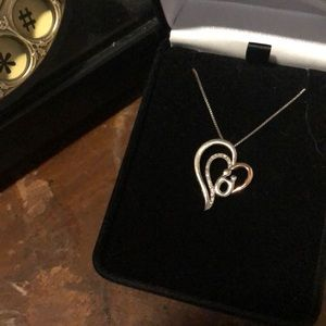 Mother/child Diamond Necklace